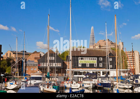 United Kingdown, London, the City, St Katharine Docks marina - Stock Photo