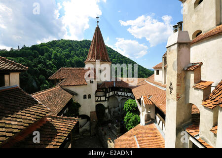 Romania, Carpathian Mountains, Transylvania Region, Bran, the first castle was erected by the Teutonic Knights in - Stock Photo