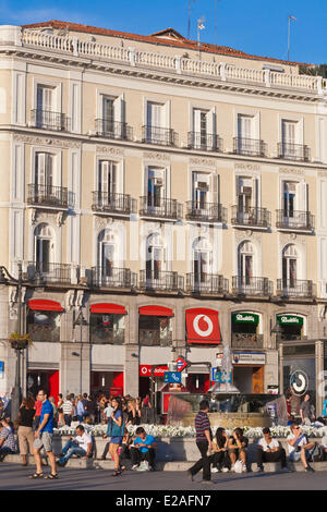 Plaza puerta del sol madrid spain stock photo royalty for Plaza puerta del sol