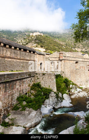 France, Pyrenees Orientales, Villefranche de Conflent, labelled Les Plus Beaux Villages de France (The Most Beautiful - Stock Photo