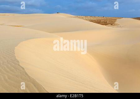 Cape Verde, Boavista, beach and dunes - Stock Photo