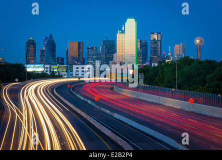 Dallas is the ninth most populous city in the United States of America and the third most populous city in the state - Stock Photo