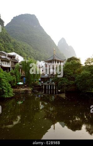 China, province of Guangxi, Guilin, Yangshuo - Stock Photo