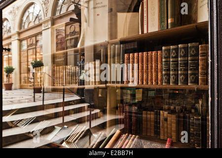France, Paris, the Galerie Vivienne - Stock Photo