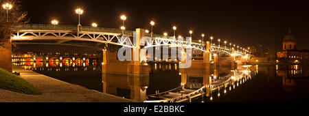 France, Haute Garonne, Toulouse, Pont Saint Pierre over the Garonne River - Stock Photo