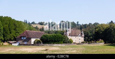 France, Dordogne, Perigord Vert, Saint Paul la Roche, Chateau de Montardy - Stock Photo