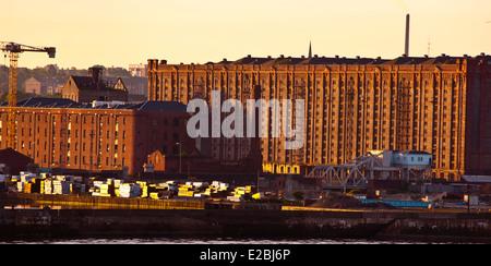 Stanley Dock Tobacco Warehouse Liverpool world's largest brick warehouse - Stock Photo
