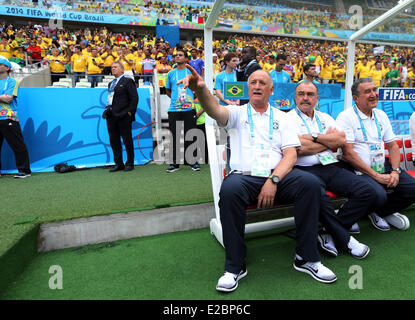 Fortaleza, Brazil. 17th June, 2014. World Cup finals 2014. Brazil versus Mexico. Felipe Scolari Credit:  Action - Stock Photo