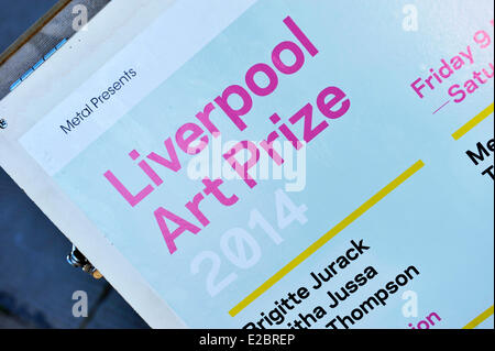 Liverpool UK 18th June 2014. Liverpool Art Prize Winner 2014 is announced as Tabitha Jussa. She also won the Peoples - Stock Photo