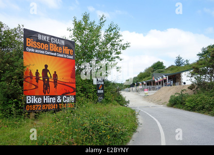 The Mineral Tramways coast to coast cycle path in Cornwall, UK - Stock Photo