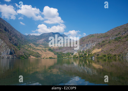 Rio Grijalva resevoir above Sumidero Canyon Chiapas Mexico - Stock Photo