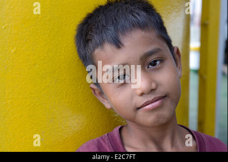 Indonesia, Lombok, on the ferry to Sumbawa - Stock Photo