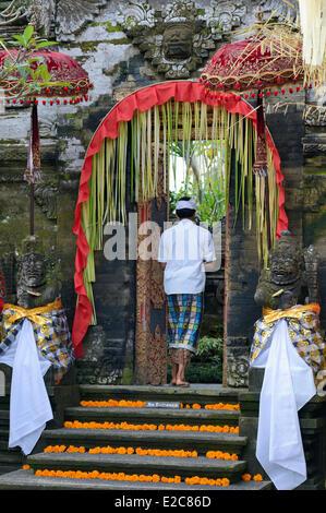 Indonesia, Bali, Ubud, Ubud Palace - Stock Photo