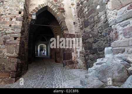 Italy, Sicily, Aeolian islands, listed as World Heritage by UNESCO, Castle of Lipari - Stock Photo