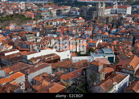 Portugal, Norte Region, Porto, historical center listed as World Heritage by UNESCO, Se cathedral in the background - Stock Photo
