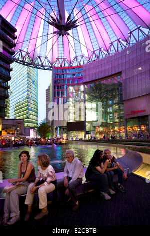 Germany, Berlin, Potsdamer Platz, Sony Centre - Stock Photo