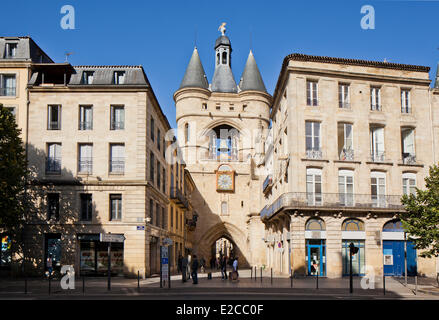 France, Gironde, Bordeaux, Porte de la grosse cloche (the Big Bell Gate) - Stock Photo