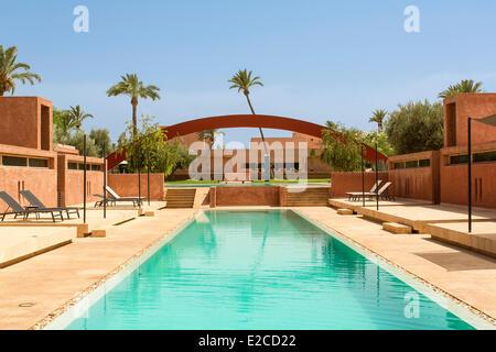 Morocco, High Atlas, Marrakesh, Imperial city, Dar Sabra Hotel to Franτois Chaputo - Stock Photo