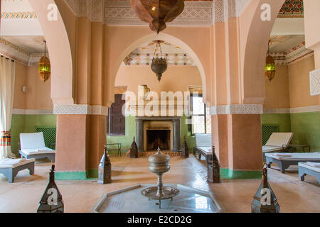 Morocco, High Atlas, Marrakesh, Imperial City, the Beldi Country Club, The Spa - Stock Photo