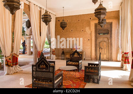 Morocco, High Atlas, Marrakesh, Imperial City, the Beldi Country Club - Stock Photo