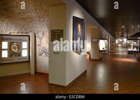 France, Herault, Beziers, Museum of Biterrois, room dedicated to the town planning - Stock Photo
