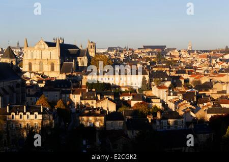 France, Vienne, Poitiers, Saint Pierre cathedral - Stock Photo