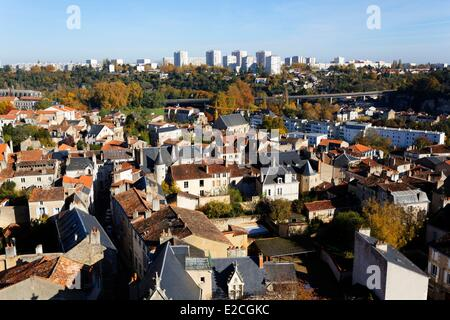 France, Vienne, Poitiers, from Saint Pierre Cathedral - Stock Photo