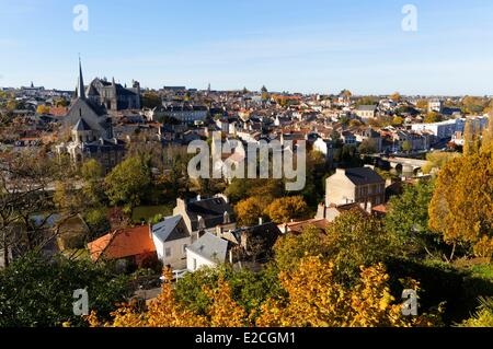 France, Vienne, Poitiers, Sainte Radegonde church, Saint Pierre cathedral - Stock Photo
