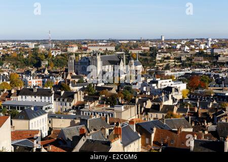France, Vienne, Poitiers, Saint Pierre cathedrale - Stock Photo