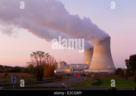 France, Vienne, Civaux, nuclear power station - Stock Photo
