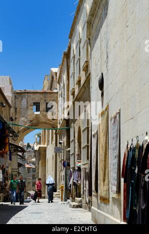 Israel, Jerusalem, holy city, the old town listed as World Heritage by UNESCO, the Via Dolorosa in the Muslim District, - Stock Photo