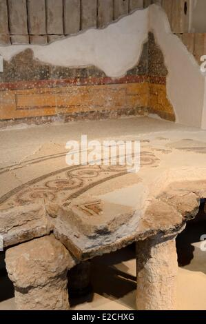 Israel, Jerusalem, Guivat Ram District, Israel Museum, department of archeology, fragment of the bathroom and the - Stock Photo