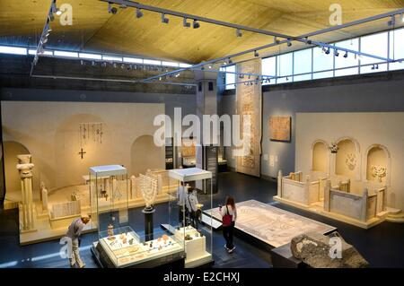 Israel, Jerusalem, Guivat Ram District, Israel Museum, department of archeology, room 6 called The Holy Land - Stock Photo