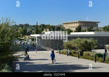 Israel, Jerusalem, Guivat Ram District, Israel Museum, the Knesset and in the background - Stock Photo