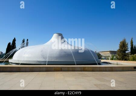 Israel, Jerusalem, Guivat Ram District, Israel Museum, Shrine of the Book - Stock Photo