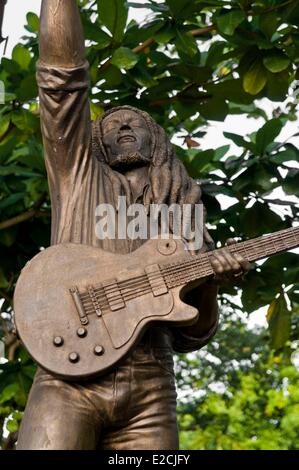 Jamaica, West Indies, Kingston, the house of Bob Marley became fondation, museum and music studio recording - Stock Photo