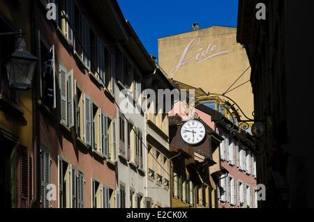 Switzerland, Canton of Vaud, Vevey city center - Stock Photo