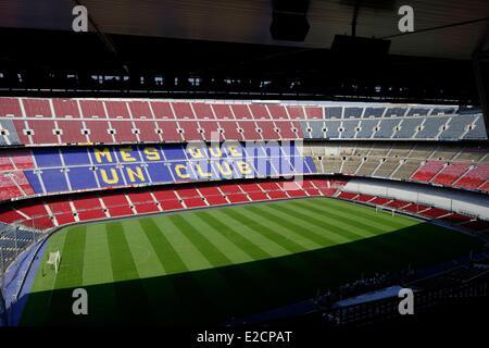 Spain Catalonia Barcelona Camp Nou Barca stadium 7 av. Aristide Maillol - Stock Photo