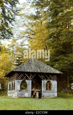 France Vosges Girmont Val d'Ajol the Chalet of the Emperor this place was frequented by Napoleon III - Stock Photo