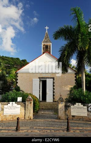 France Guadeloupe (French West Indies) Saint Barthelemy Gustavia anglican episcopal church - Stock Photo