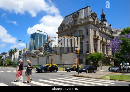 Argentina Buenos Aires the Embassy of France North of 9 de Julio avenue the widest avenue in the world - Stock Photo
