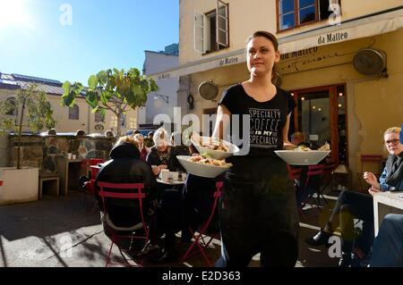 Sweden Vastra Gotaland Goteborg (Gothenburg) Da Matteo Cafe - Stock Photo