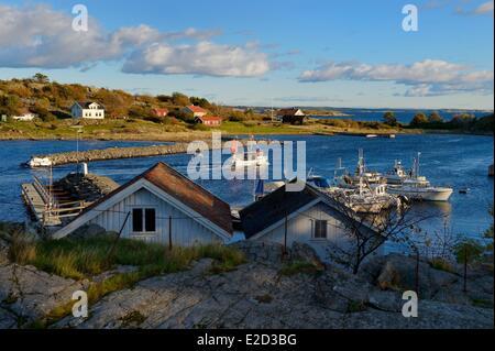 Sweden Vastra Gotaland Koster Islands Sydkoster fishing boat in Ekenas port - Stock Photo