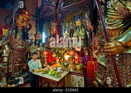 Vietnam Ho Chi Minh City Pagoda of the Jade Emperor Buddhist and Taoist temple - Stock Photo