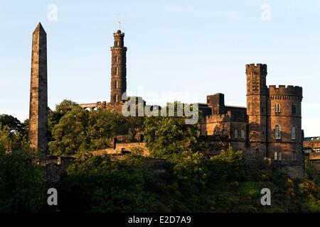 United Kingdom Scotland Edinburgh listed as World Heritage by UNESCO Calton Hill - Stock Photo