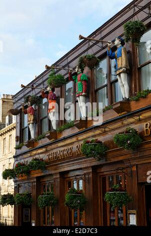 United Kingdom Scotland Edinburgh listed as World Heritage by UNESCO facade of The Theatre Royal bar - Stock Photo