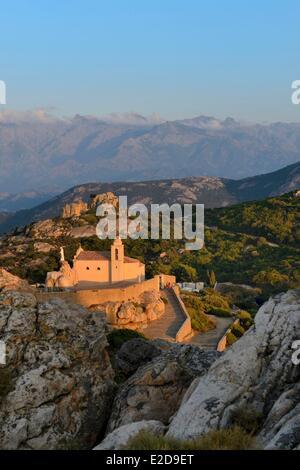 France, Haute Corse, Calvi, Notre Dame de la Serra chapel (1479) - Stock Photo