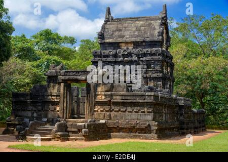 Sri Lanka Central Province Matale District Naula Stone Indian temple of Nalanda Gedige of 8th century situated in - Stock Photo