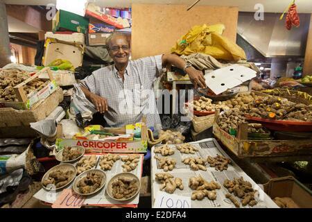 Mauritius, Port Louis district, Port Louis, the central market - Stock Photo