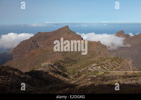Spain, Canary islands, Tenerife island, Masca road - Stock Photo